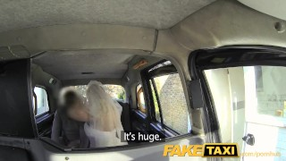 FakeTaxi Runaway bride needs big cock  car sex point of view big tits lingerie blowjob blonde public camera faketaxi milf spycam reality huge cock deepthroat uniform bride