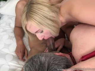 Kate and Her Husband Share a Black Cock