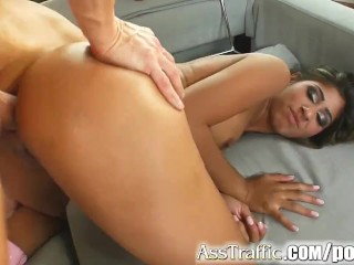 Ass Traffic Half Indian honey's ass is stretched to no return