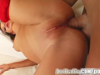 Ass Traffic Deep ass fucking destroys this cutie's gaping ass