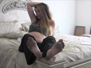 Pregnant MILF Nikki Makes You Her Foot Slave Part 2