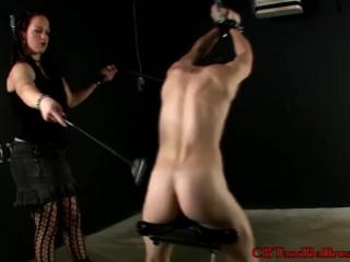 CBT slave experiences a humbler on his balls