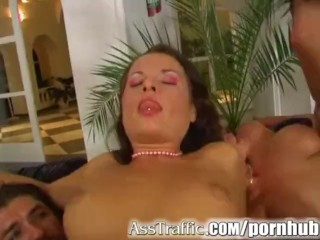 Ass Traffic Krystal and Luisa have hot foursome. Get butt banged