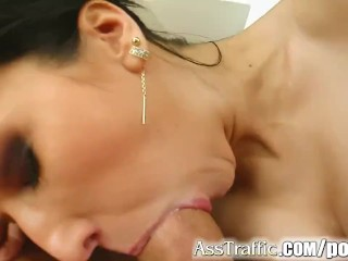 Ass Traffic Good girl Daisy takes all that cock in her ass