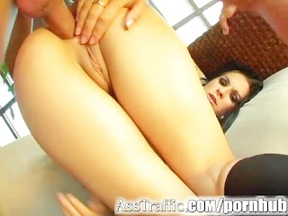 Ass Traffic Two bubble butt honeys are DP'ed and get double facial