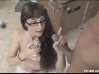 Sperm collector gets splattered with jizz