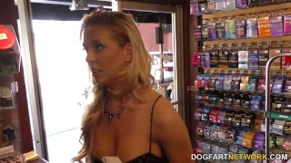 Cherie DeVille cheats on her husband with black gloryhole cock  big tits big cock blowjob blonde gloryhole fetish busty hardcore interracial shaved big boobs big black cock dogfartnetwork tight creampie