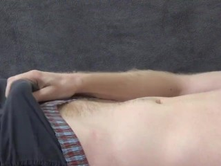 He Edges And Moans, Then Explodes - JohnnyIzFine