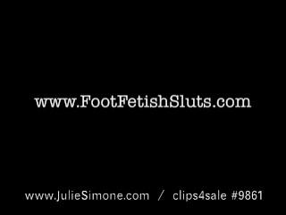 Redhead Julie Simone Sucks Own Toes