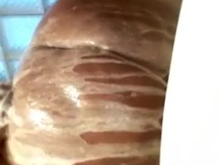 Ginger waterfalls 50 inch soapy ass