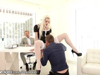Horny Czech gets Double Stuffed at Work