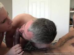 Niki Snow Makes Husband Suck Big Black Cock