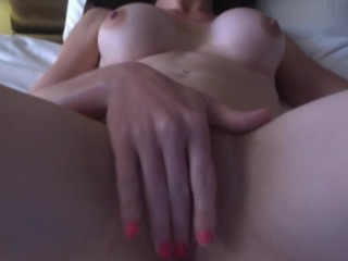 Horny Aussie playing with her wet pussy
