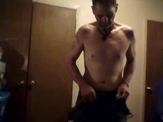 this is me bored and horny an rubbing my cock an showing my ass for all