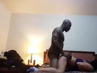 Daddy luvs sucking and fucking Lil Mama's pretty pussy with his BBC