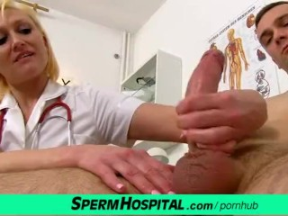 Cum on tits at hospital feat. dirty milf doctor Dita
