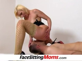 Milf with boy facesitting feat. czech mature Dita
