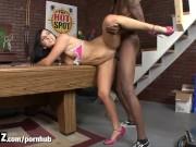 WANKZ - Skinny White Girl Takes Huge Black Cock!