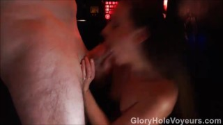 Hidden Gloryhole Cam Housewife Sucks & Fucks swallow homemade milf kink amateur gloryhole cock sucking cumshot creampie small tits doggy style gloreyholevoyeurs facial