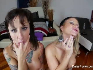 Daisy & Dollie get pounded in a hardcore foursome