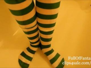 Pissing in my St Patrick's Day Socks!
