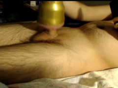 Using my new Fleshlight to Fuck My Big Cock  Amazing Pussy