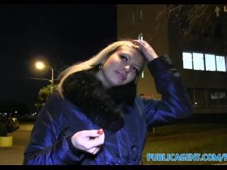 PublicAgent - Seks op park bankje met dikke tieten