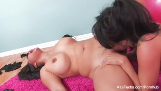 Asian lesbian action with Asa and Jessica lingerie hardcore asa-akira asian babe pornstar puba tattoo lesbian japanese big-boobs big-tits asafucks brunette skinny girl-on-girl busty high-heels