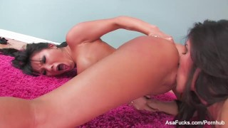 Asian lesbian action with Asa and Jessica  asa akira big tits high heels lingerie babe asian pornstar puba tattoo skinny busty hardcore lesbian japanese brunette asafucks big boobs girl on girl