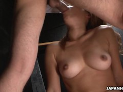 Asian tiny babe gets her wet pussy hammered as she moans