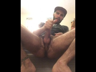 jerking off in the mirror