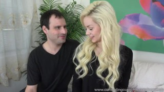 Elsa Jean and Her Husband Fuck Male Stripper Together  big cock reverse cowgirl cuckold wife husband blonde blowjob small tits bisexual cumeatingcuckolds bull 3some mmf threesome cum eating