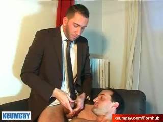 Full video: A nice innocent vendor guy serviced his big cock by a guy.