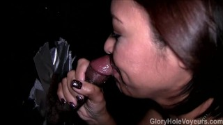 Asian MILF Gloryhole Blowgang  bj cock-sucking oral cim asian blowjob gloryhole milf cumshots blowbang reality gloryholevoyeurs tattoos facial