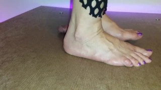cbt cockcrush cock box footjob fishnet crush cock torture cock crush barefeet cruel homemade jizz cum edging
