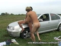 Blonde son fuck mom