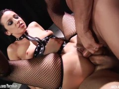 Jada Stevens gets hard anal fucking and double penetration