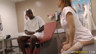 Nurse Sky Rodgers takes big black cock