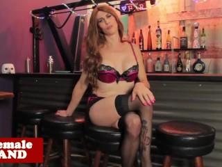 Lingerie trans beauty strips and jerksoff