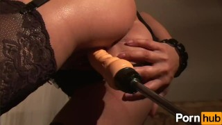 Robocock the Fucking Machine - Scene 5  fuck machine masturbation masturbating euro mom masturbate hungarian small tits skinny milf brunette petite pornhub mother stockings sex toys adult toys