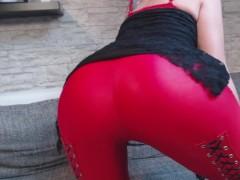 : NEUES VIDEO!! ROTE LEDER LEGGING!!!