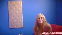 Sexy Milf Julia Ann in Strip T