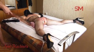 Preview 2 of Brutal whipping fucking and monster dildo pussy destroying tied gagged sl