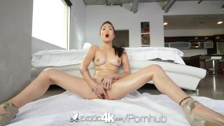 Exotic4K - Asian babe, Lea Hart, sucks and fucks her man  big cock teasing hd asian blowjob oiled hardcore exotic4k fingering shaved facial pussy licking lea hart natural tits