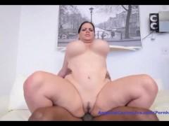 Angelina astro fucking huge black cock!