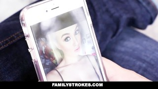 Preview 1 of Family Strokes - Creepy Brother Stalks and Fucks Step-Sister