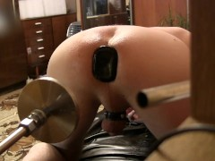 Best Anal Dildo, Sex Machine fuck my ass, & Big Plug Cum (DJ D5.5) 3