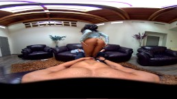 VR Teen Megan Rain rides big dick in POV 360 Virtual Reality experience