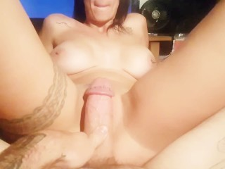 Sexy Milf Riding Cowgirl POV