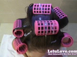 Lelu Love-POV HJ BJ Cum In Hair Curlers Hairwashing